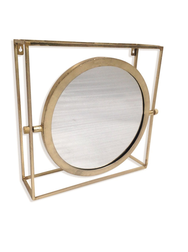 Orion Single Mirror - Antique Gold Finish