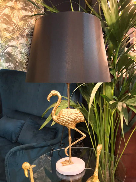 Flamingo Table Lamp With Black Shade - Gold Finish