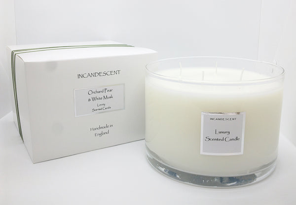 Orchard Pear & White Musk Large 4 Wick Candle