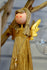 Rustic Wood Star Angel Standing Decoration