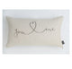 You & Me Swirl Boudoir Cushion
