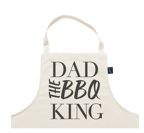 Dad The BBQ King Apron