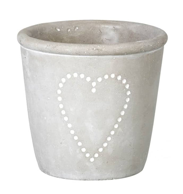 Grey Heart Planter Small