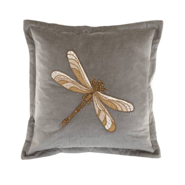Aria Grey Dragonfly Voyage Maison Cushion