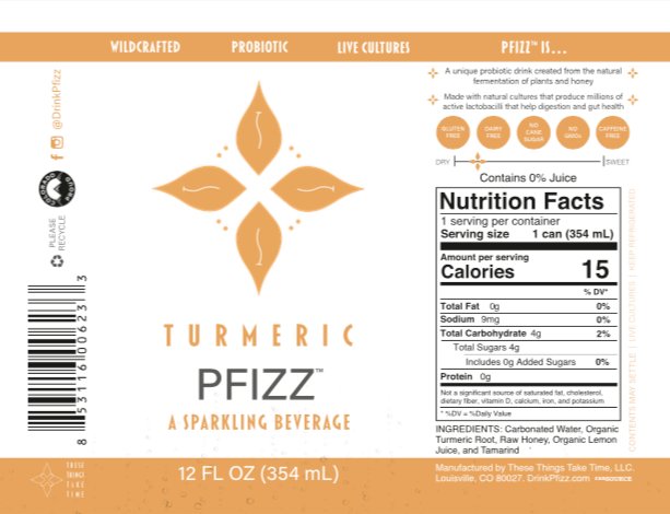 Turmeric Pfizz 4-Pack