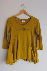 Mustard Yellow Quarter-sleeve Bee Tee