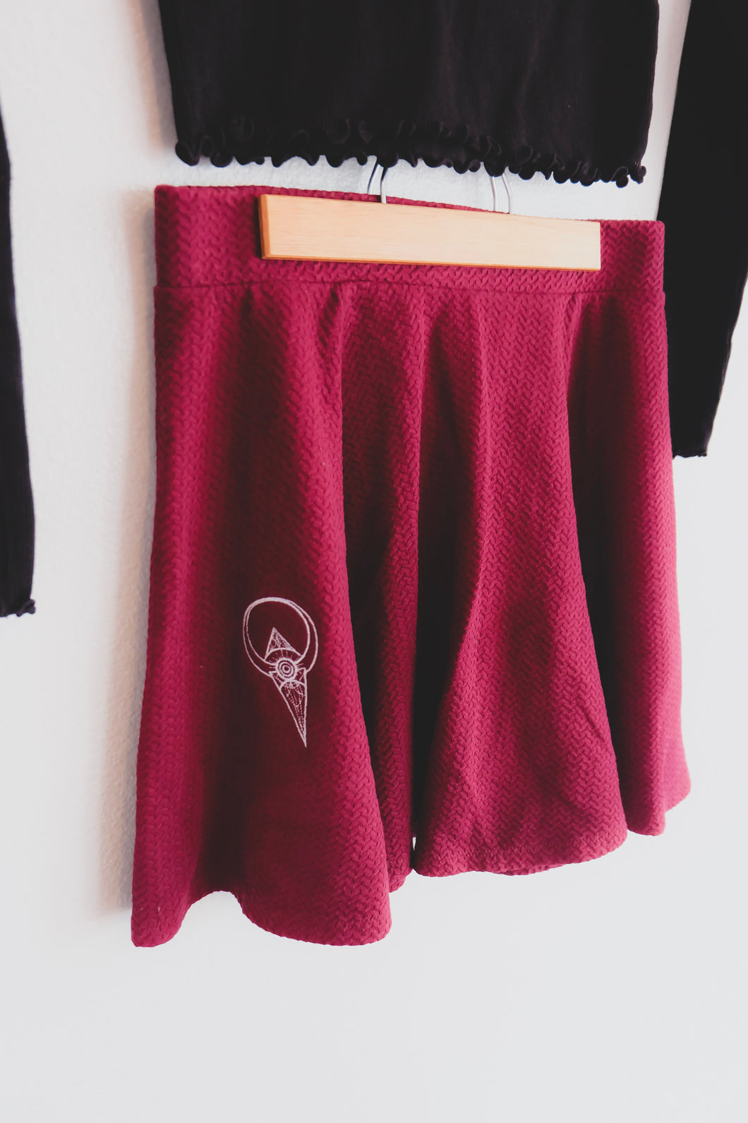 Maroon Skater Skirt - Sigil Collection