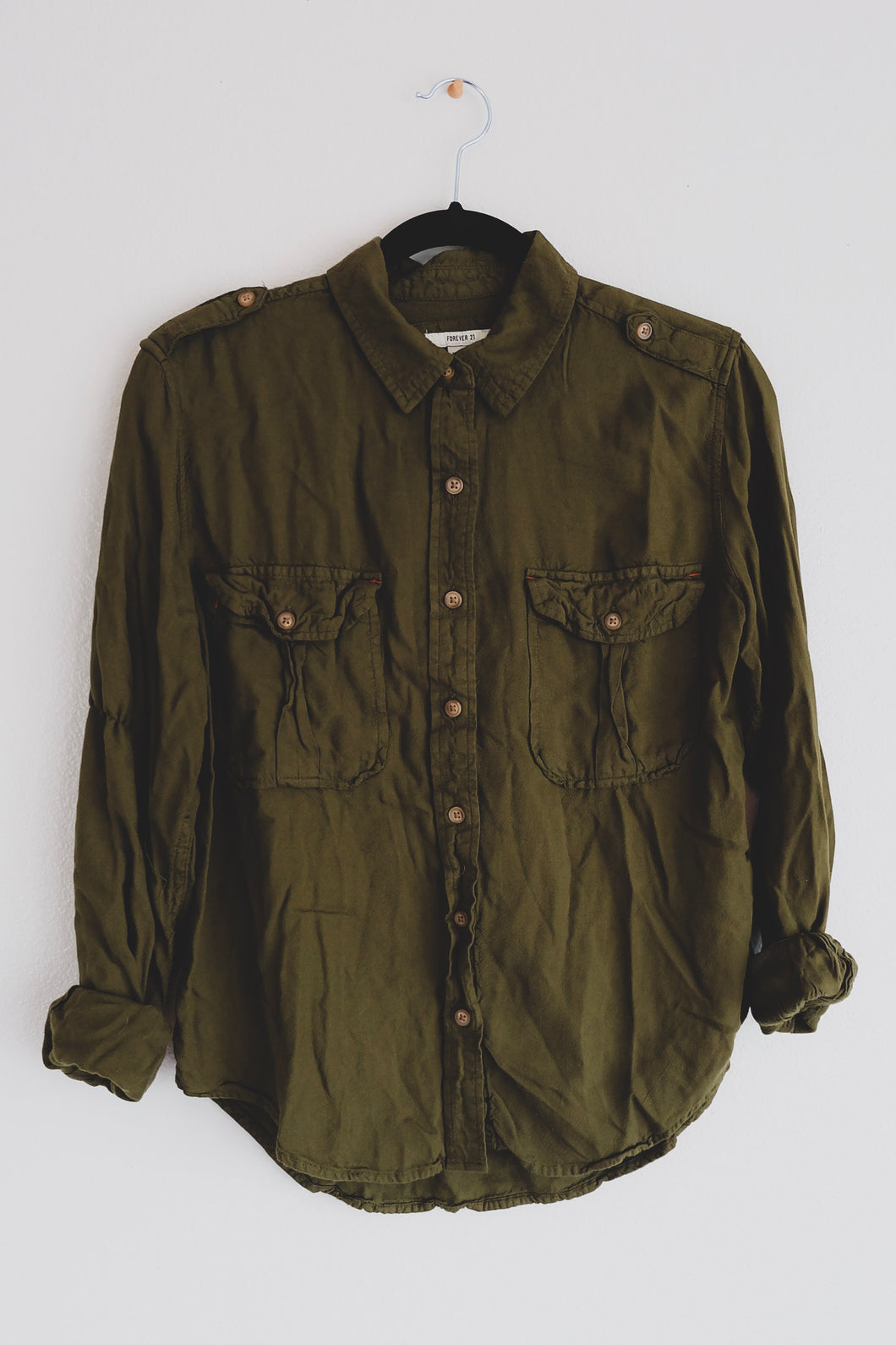 Forest Green Button Up - Sigil Collection