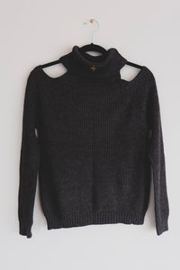 Cutout Turtleneck Sweater - Sigil Collection