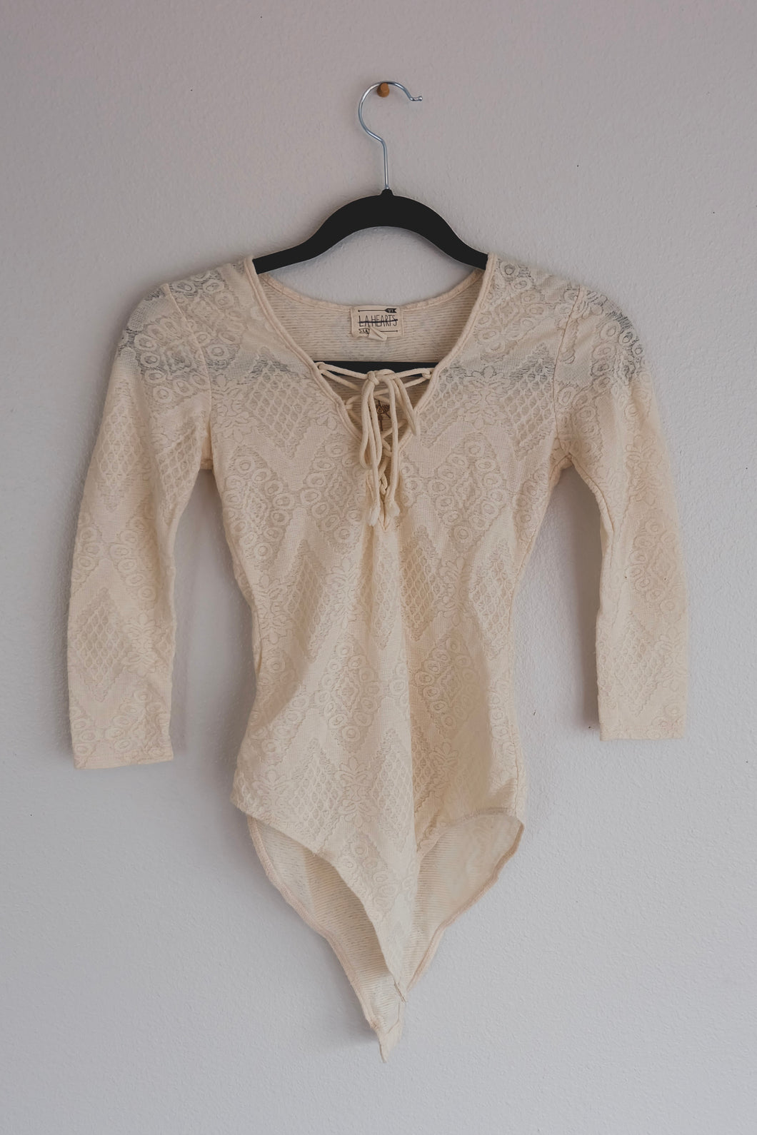 Cream Lace Bodysuit - Sigil Collection