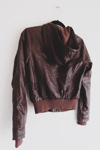 Brown Faux Leather Jacket - Sigil Collection