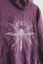 Load image into Gallery viewer, Deep Purple Dragonfly Hippie Hoodie