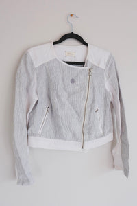 Blue & White Crop Jacket - Sigil Collection