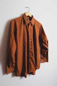 Deep Orange Button Up - Sigil Collection