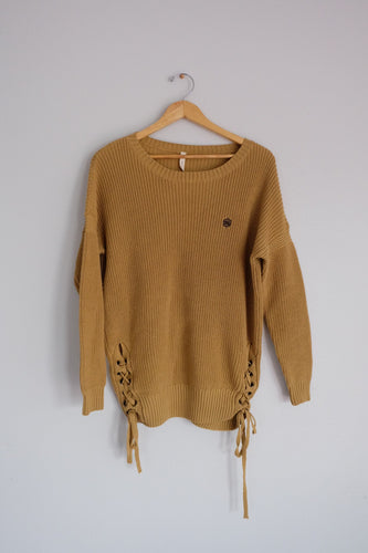 Mustard Yellow Knit Sweater - Sigil Collection