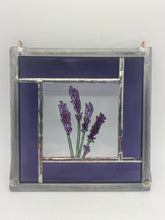 Load image into Gallery viewer, Lavender stained glass panel.                                         LD