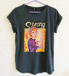 """Strong"" organic Cotton T-shirt (Maeve)"