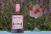 Load image into Gallery viewer, Boutique distillery pink Cotswold gin with raspberry's and hibiscus flowers  50cl (Boutique)