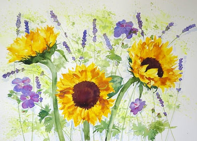 Sunflowers greetings card (Alison)