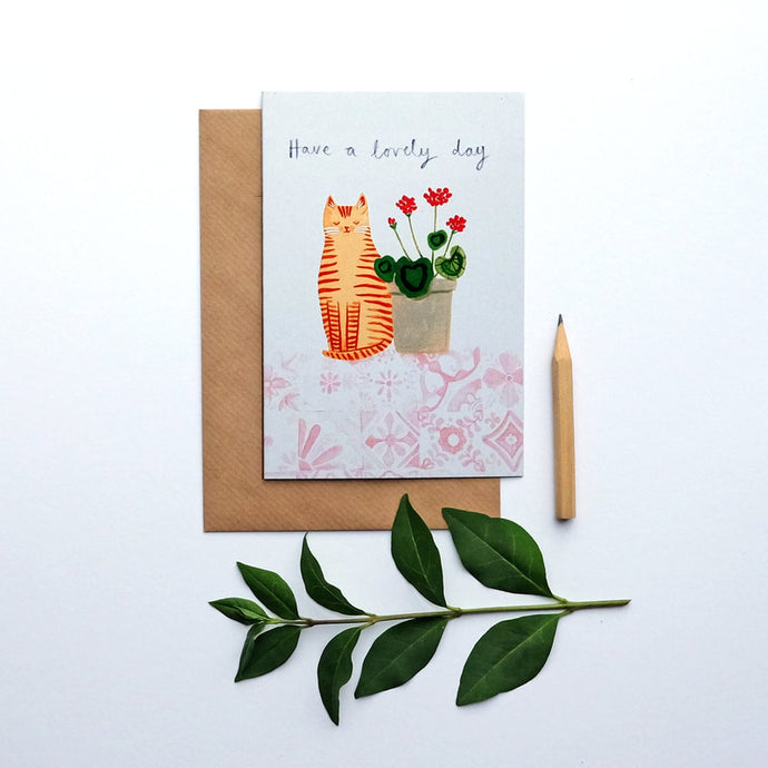 Have a lovely day greetings card