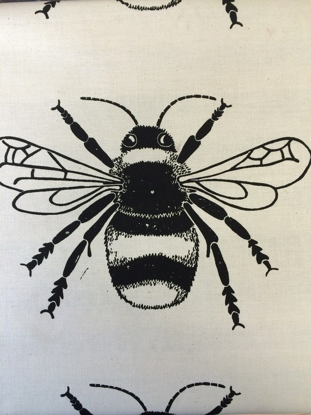 Bee tea towel (BLUE)