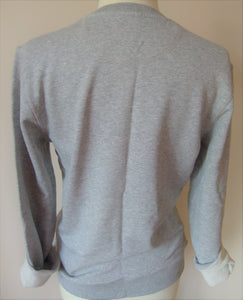 """Believe"" grey organic cotton sweater"