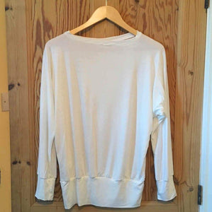 White viscose long sleeved top (Emily)