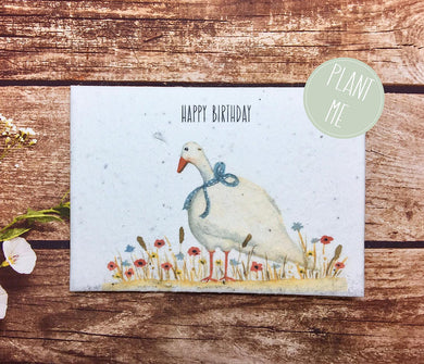 Plantable paper,Birthday Card, Blank Inside, Recycled, poultry card,Farm (Erika)