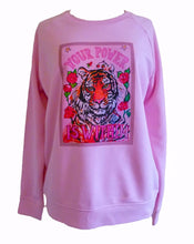 "Load image into Gallery viewer, ""Tiger"" organic cotton candy sweater (Maeve)"