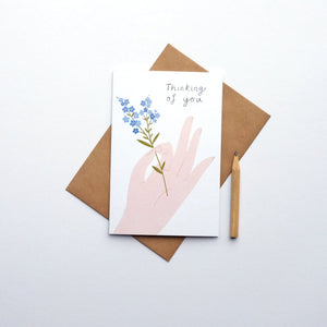 """Thinking of you"" greetings card (STECO)"