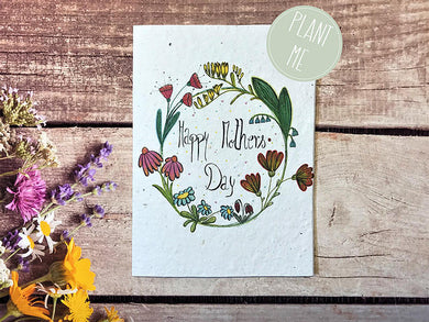 Plantable Happy Mother's Day greetings card (Erika)