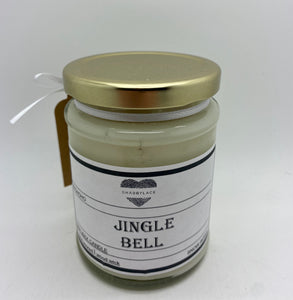 Jingle bell scented soy wax scented candle with wooden wick (Shabby)