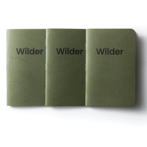 3 blank page note books (wilder)