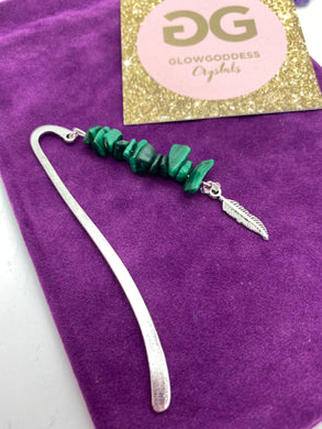 Malachite Tibetan silver bookmark by JENNY 07