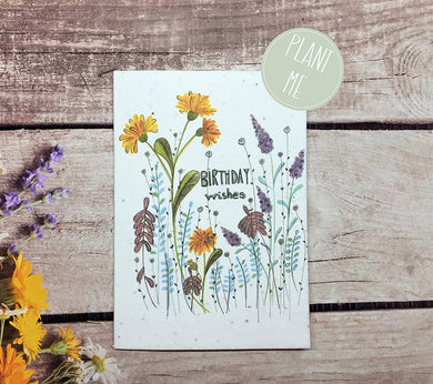 Plantable birthday wishes greetings card (Erika)