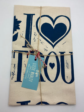I love Stroud tea towel (BLUE)