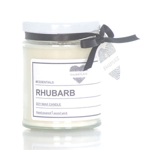 Rhubarb soy was scented candle (Shabby)
