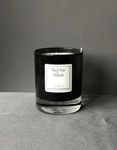 Black plum and Rhubarb scented candle (CandleCo)