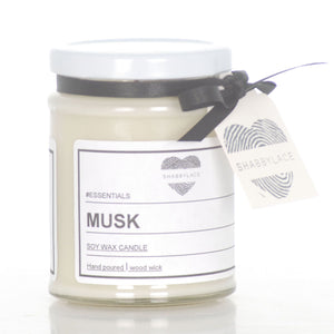 Musk soy wax scented candle (Shabby)