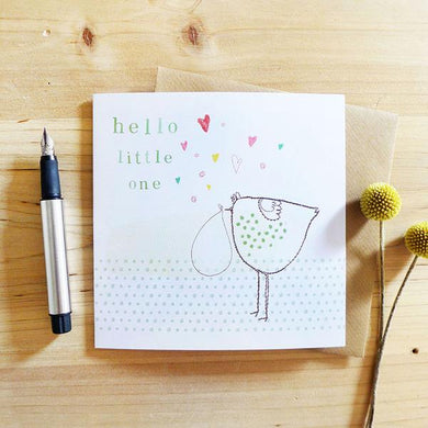 Hello little one greetings card (CMT)