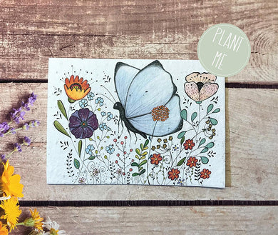 Plantable butterfly greetings card (Erika)
