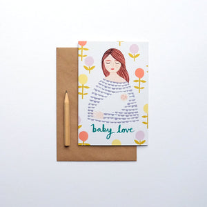 Baby love greetings card