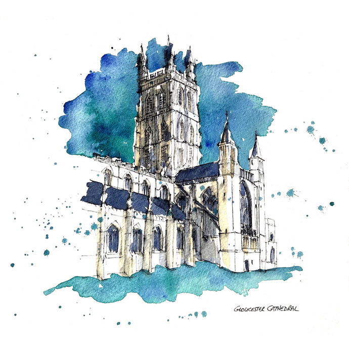 Gloucester Cathedral print (Gamble)