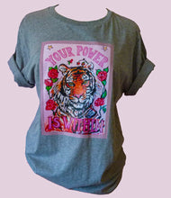 "Load image into Gallery viewer, ""Tiger"" organic cotton T-Shirt (Meave)"