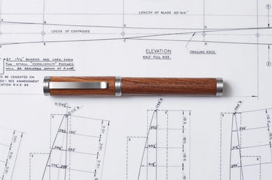 Hordern Richmond Fountain pen made from original spitfire propeller (Herc)