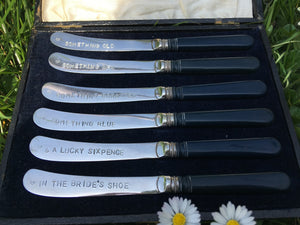 Silver knife wedding set