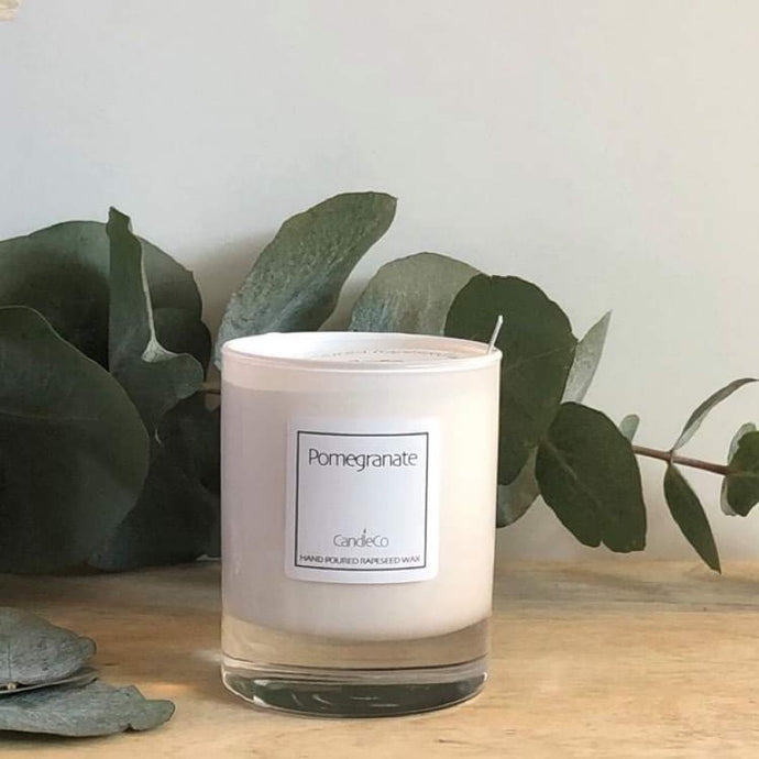 Pomegranate scented candle (CandleCo)