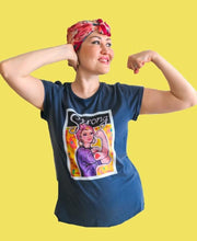 "Load image into Gallery viewer, ""Strong"" organic Cotton T-shirt (Maeve)"