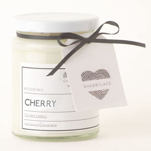 Cherry soy wax scented candle (Shabby)