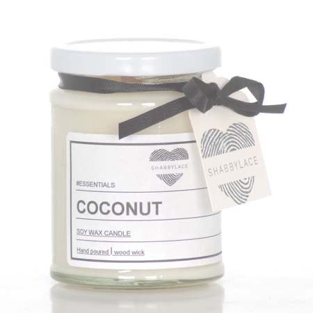Coconut soy wax scented candle (Shabby)